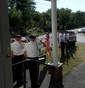 Memorial performed for Denny Hemphill by the VFW Honor Guard.